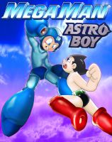 Megaman and Astro by 19MicronHead