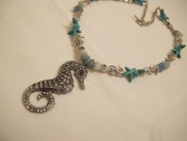 Seahorse Necklace Closeup by Windthin