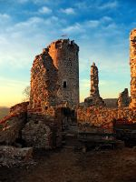 The ruins of Waxenberg castle by patrickjobst