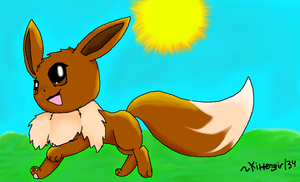 Eevee by Kittengirl34