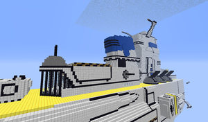 minecraft battleship finished product part 17 by tx-game-player21