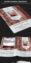 Scape Funeral Program Template by Godserv