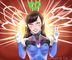 D.Va | Thanks for 20k views! by Mikouchan