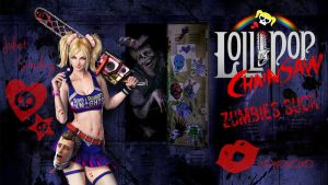 Lollipop Chainsaw Zombies Suck Wallpaper by KiriLockheart