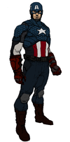 Captain America Redesign by Elayem