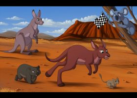 Outback Race - Collab by kohu-arts