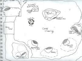 ThunderClan Camp by smirks105