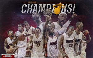 Miami Heat 2012 Champions Team Wallpaper by IshaanMishra