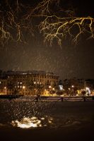 City golden winter by paracats