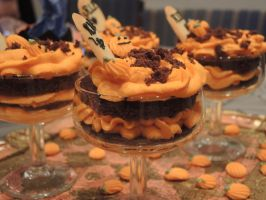 Halloween dessert in cups by Diotima96