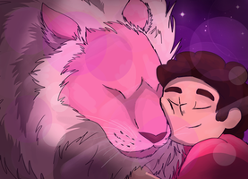 Steven and Lion by BowtieMySoul