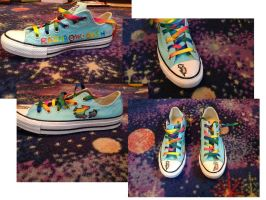Rainbow Dash Custom Shoes by OnePieceLover555