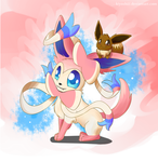 Sylveon Carry by Kiyoshiii