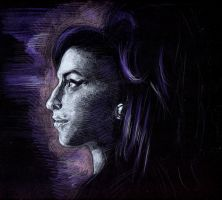 Amy Winehouse (coloured pencils) by Joshua-Mozes