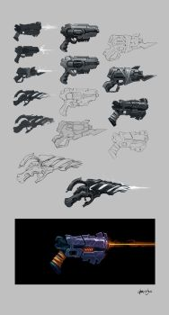 Scifi-Guns by gregor-kari