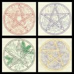 Elemental Pentacles by TalyrasMirror