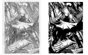 INK PORTFOLIO: Batman by shiprock