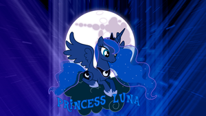 Princess Luna on a Cloud 'Abstract' Wallpaper by BlueDragonHans