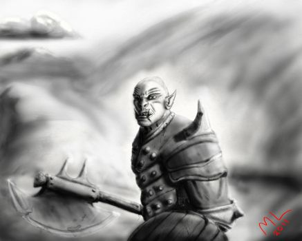 Lone Orc by Mikejl