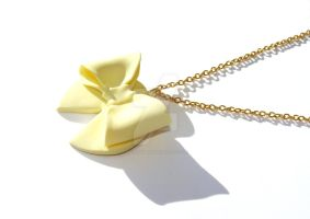 Vanilla Bow Necklace by MartineLand
