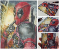 Deadpool miniature drawing by Tokiiolicious