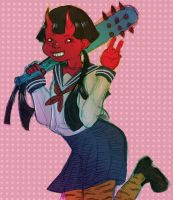 oni girl by X3carlyX3