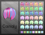 MMD Candy Hair Texture by Xoriu