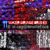 11 Water Grunge Brushes by LW-Lucy