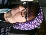 Crocheted purple hat by ownpersonalhell