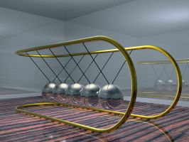 Newtons Cradle by fission1