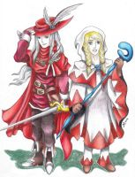 WoL's Request: Red Mage and White Mage by LadyJuxtaposition