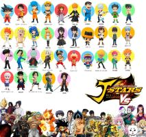 J-Stars Roster and Unused Characters (3/28/2014) by TheTalon34