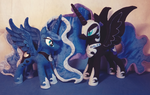 Luna and Nightmare Moon by EquestriaPlush