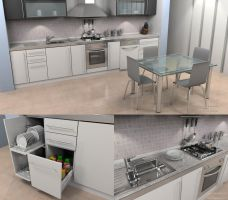 Kitchen Render 01 by cenkkara