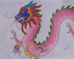 Chinese Dragon Finished by LilWolfStudios