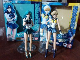 S.H. Figuarts Sailor Neptune and Sailor Uranus by MichiruPLANET