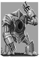Mechanic Giant Robot Knight by zelldweller