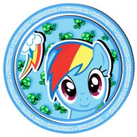 Rainbow Dash sweet button by KennyKlent