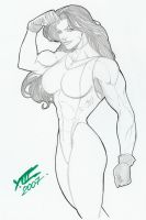 Other She-Hulk pinup drawn by LuisXIII by zefly88