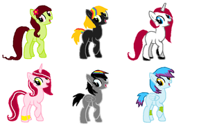 MLP Adoptabless by AlbinoAdopts