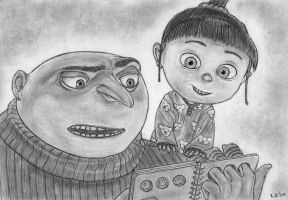 Despicable Me (Gru And Agnes) by Bill-Con