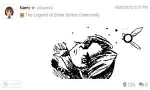 Miiverse Drawing - Young Link by xXNami-sanXx