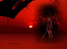 Akame Red Sunset Wallpaper by weissdrum