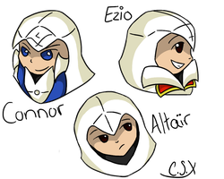 Assassin Headshots by Cyan-Star-X