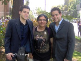 Rami Malek,me,and Sami Malek by Jenrenegade