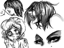 doodles with my NEW TABLET :D by EmiiriOrochi