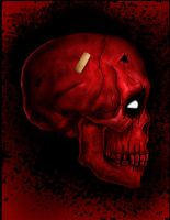Skullicious Deadpool by HeroforPain