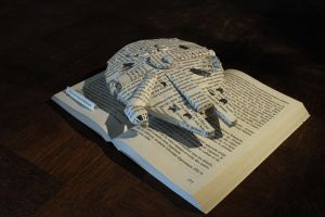 StarWars - The Millenium Faucon book sculpture 2 by AnemyaPhotoCreations