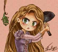 Tangled -Dont Make Me Use This by rue789