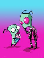 Zim And Gir colored by Verbasan